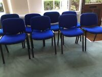 Set of 8 stackable conference chairs