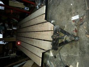 Remorque plateforme 6x14 avec freins électriques