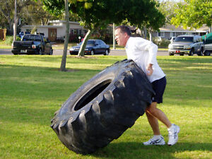 Looking for old and discarded/unusable tractor tires for fitness