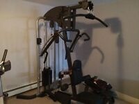 Various pieces of gym equipment