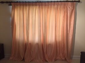 2 Pairs Fully lined custom made curtains