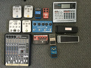 Guitar effects pedals, drum machine, cables , wahs etc for sale