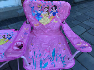Foldable Barbie  Camping Chair and Table and Tot Spot
