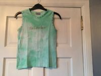 Ted Baker Green Tie Dyed Vest, Size Small