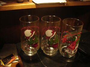 COLLECTOR'S HOLLY HOBBIE XMAS COKE GLASSES & 2 OTHERS