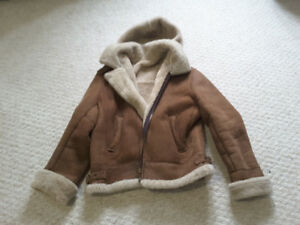 Shearling, sheepskin winter jacket.