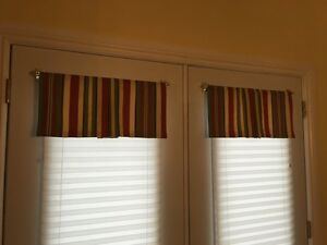 Window Valances for patio doors with magnetic rods