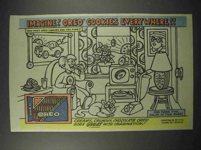 1984 Nabisco Oreo Cookies Ad - Imagine Everywhere