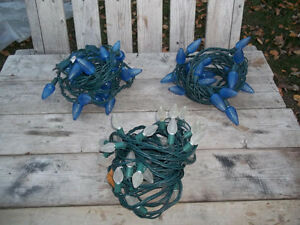 Excellent Condition: Xmas Lighting (Blue 30ft, White 22ft)