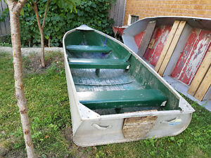 Aluminum Boat and Hand Made Wooden Row boat For Sale