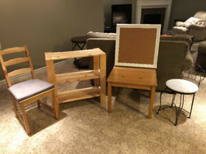 Assorted household furniture
