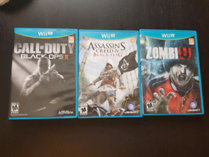 3 Wii U games for sale