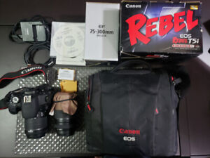 Canon T5I Camera w/ 18-55mm and 75-300mm Lenses