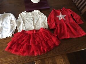 3t Christmas clothing lot including red tutu