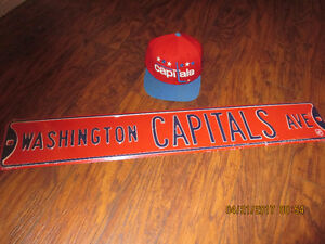 Washington Capitals Ave Sign Plus Hat.