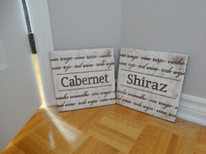 cadres décoratifs thématique vin
