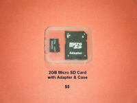 2GB Micro SD Card - Adapter - Case