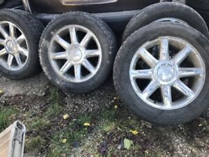 SET OF 4  20''TIRES AND RIMS FIRESTONE