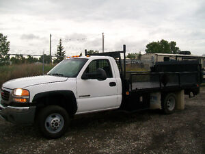 GMC SIERRA 3500 1 TON DUALLY 12FT FLAT DECK POWER GATE $6500