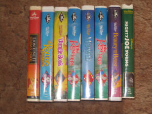 LOT OF 8 DISNEY MOVIES ON VHS  IN EXCELLENT CONDITION