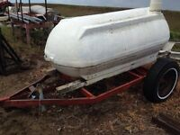 Water tank- 300 gallon, trailer, stand