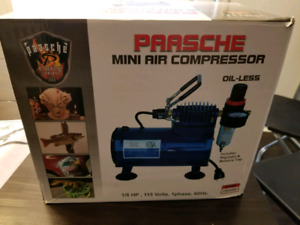 Paasche airbrush set and compressor
