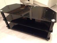 TV stand - black, glass