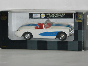 New Ray 1/43 Scale 1957 Chevrolet Corvette Diecast Car White