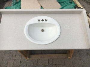 Bathroom counter top with sink