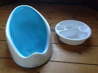 Baby bath support and top n tail bowl