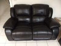 Leather Recliner 2 seater sofa