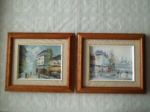2 original oil paintings in wood frames...only $40 for both