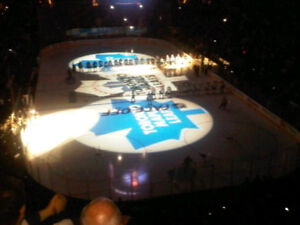 LEAFS v Pittsburgh Penguins Thurs Oct 1 8 Sec 316 Row 3 BLUES