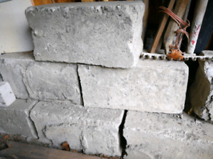 Concrete-filled cement cinder blocks
