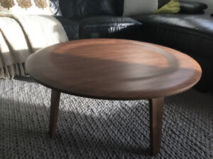 Modern Walnut Coffee Table For Sale