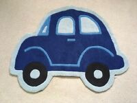Blue car shaped rug 80cm x 100cm