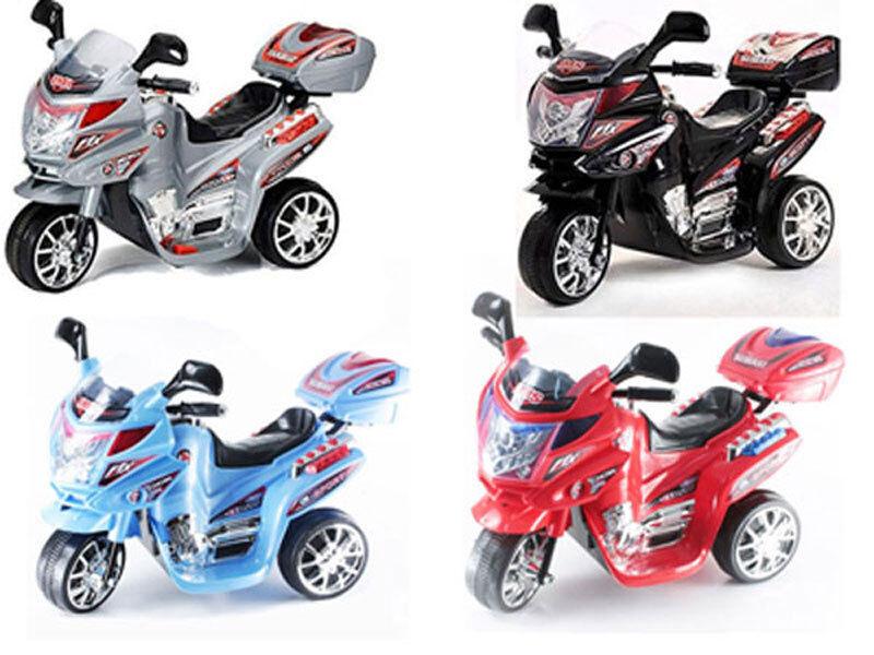 Moto elettrica per bambini modello scooter Viper 6v luci suoni bauletto 3 ruote