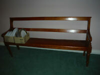 solid wood church bench in very good condition