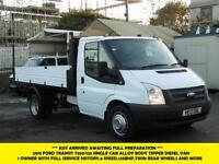 2013 FORD TRANSIT 350/125 SINGLE CAB ALLOY TIPPER *** 1 OWNER FROM NEW WITH SERV