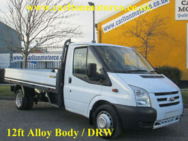 2011/ 11 Ford Transit 115ps T350L Dropside / Pickup 12ft Alloy body Rwd