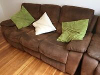 Sofa! £50! Recliner with extra arm chair