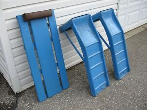 Steel Mechanic's Ramps and Creeper for sale