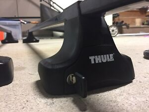 Rack Thule universel comme neuf, pieds 480, barres 58po