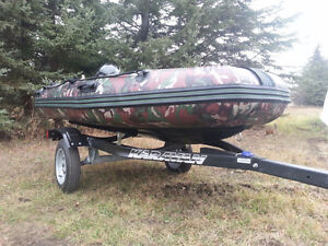 ACE Camouflage RIB300 Boat, trailer and 9.9HP Mercury Engine