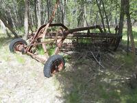 antique side delivery rake.