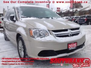 2015 Dodge Grand Caravan SXT Plus with DVD, Backup Camera