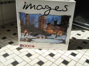 1000 piece JIGSAW Puzzle Central Park-$9.