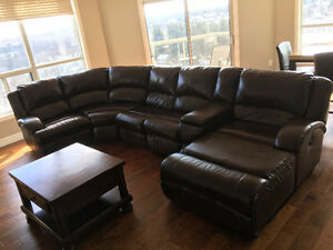 Ashley leather Right Chaise Sectional