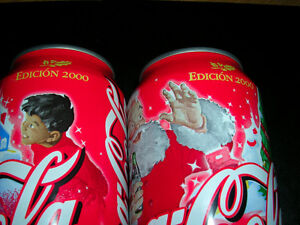 Coca Cola Millennium Christmas Cans from Mexico.