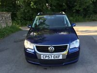 2008 57 Volkswagen Touran 2.0 Tdi 1 Owner Full Service History Air Con P/Ex Welcome